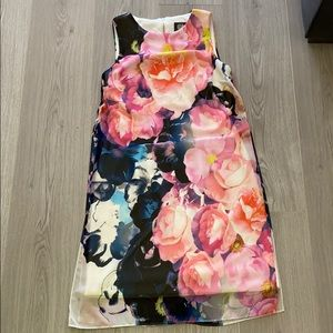 Vince Camilo Floral Overlay Dress